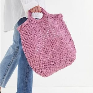 New Urban Outfitters Woven Burlap Tote Bag